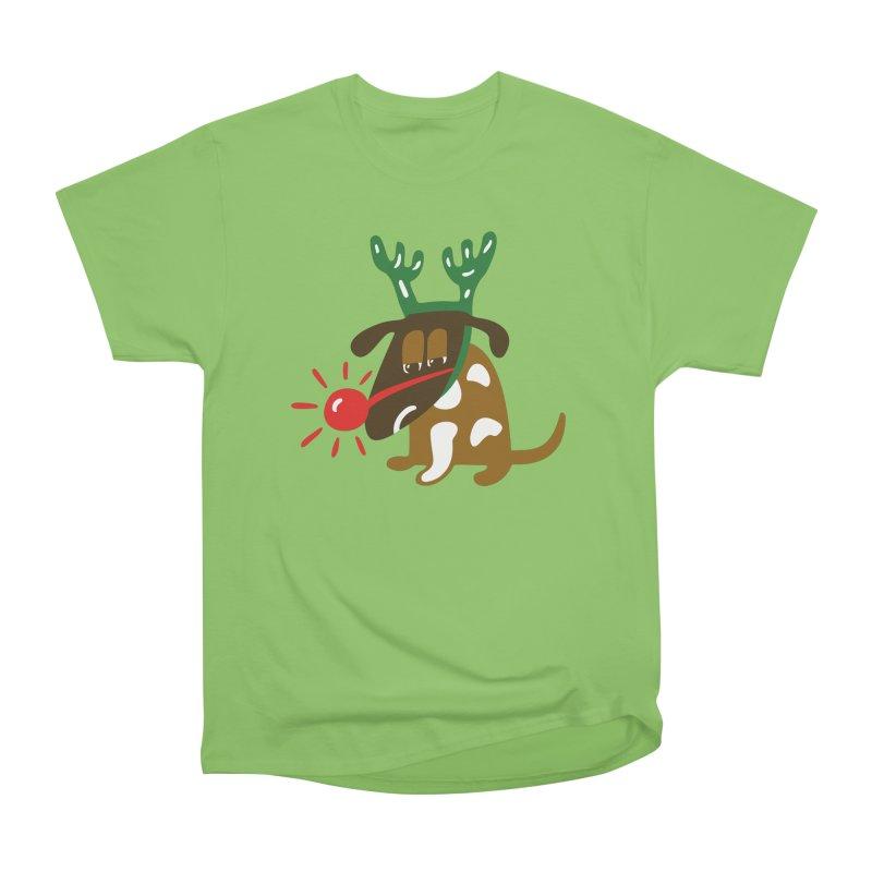 Xmas Dog Men's Heavyweight T-Shirt by Dicker Dandy