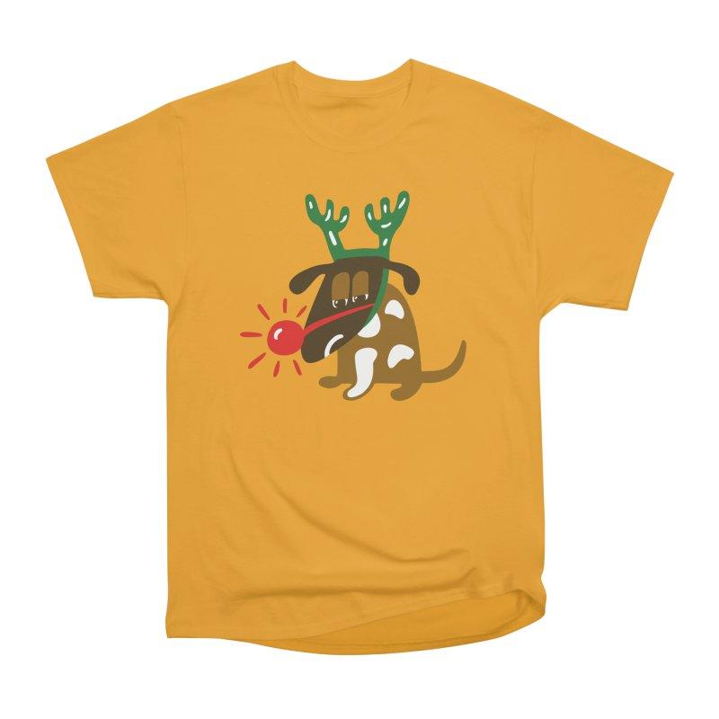 Xmas Dog Women's Classic Unisex T-Shirt by Dicker Dandy
