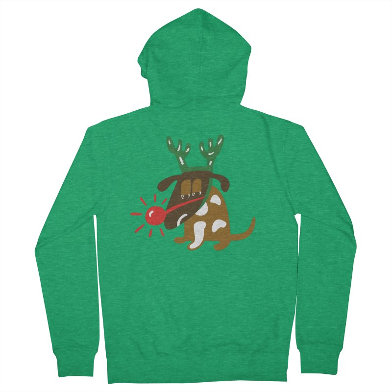Xmas Dog Women's French Terry Zip-Up Hoody by Dicker Dandy