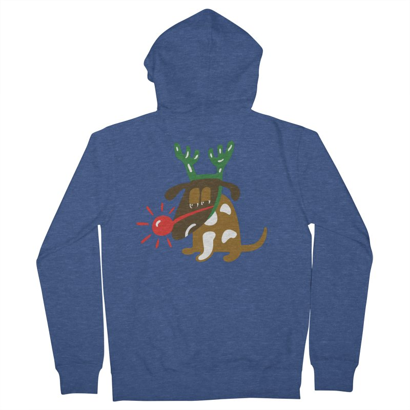 Xmas Dog Women's Zip-Up Hoody by Dicker Dandy