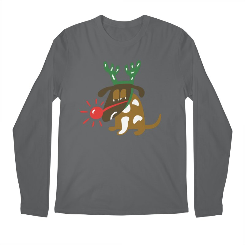 Xmas Dog Men's Longsleeve T-Shirt by Dicker Dandy