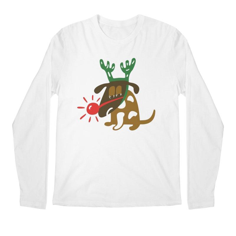 Xmas Dog Men's Regular Longsleeve T-Shirt by Dicker Dandy