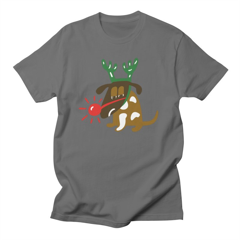 Xmas Dog Men's Regular T-Shirt by Dicker Dandy