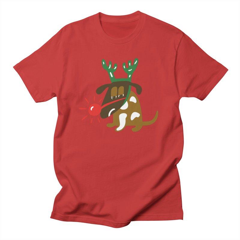 Xmas Dog Women's Unisex T-Shirt by Dicker Dandy