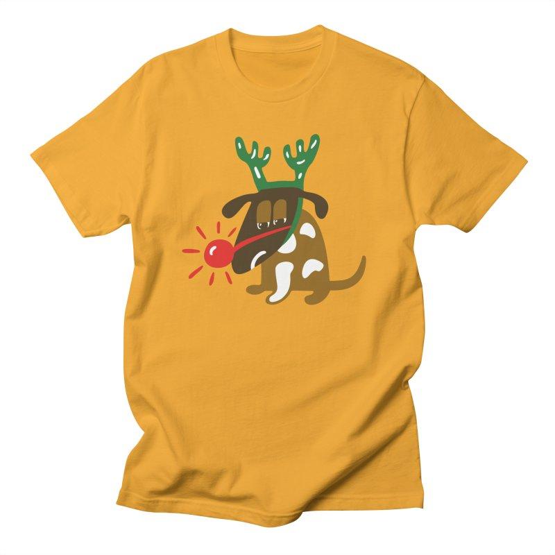 Xmas Dog Men's T-Shirt by Dicker Dandy