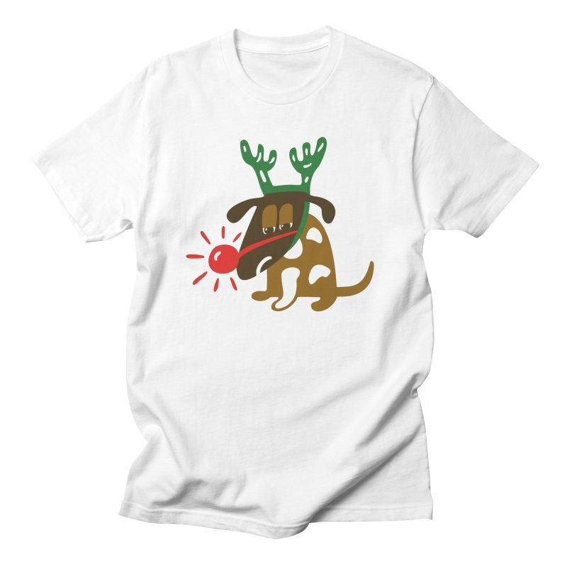 Xmas Dog Women's Regular Unisex T-Shirt by Dicker Dandy