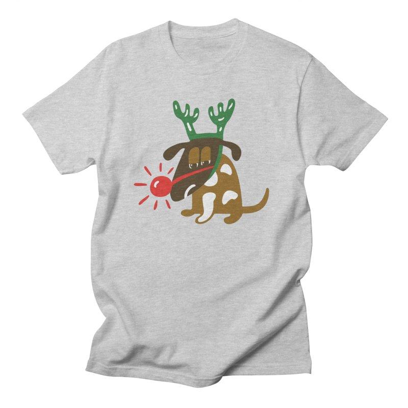 Xmas Dog Men's Regular T-Shirt by Dicker Dandy