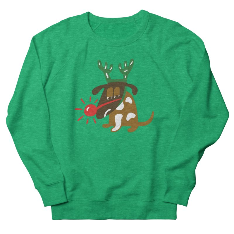 Xmas Dog Men's French Terry Sweatshirt by Dicker Dandy