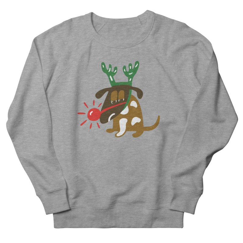 Xmas Dog Men's Sweatshirt by Dicker Dandy