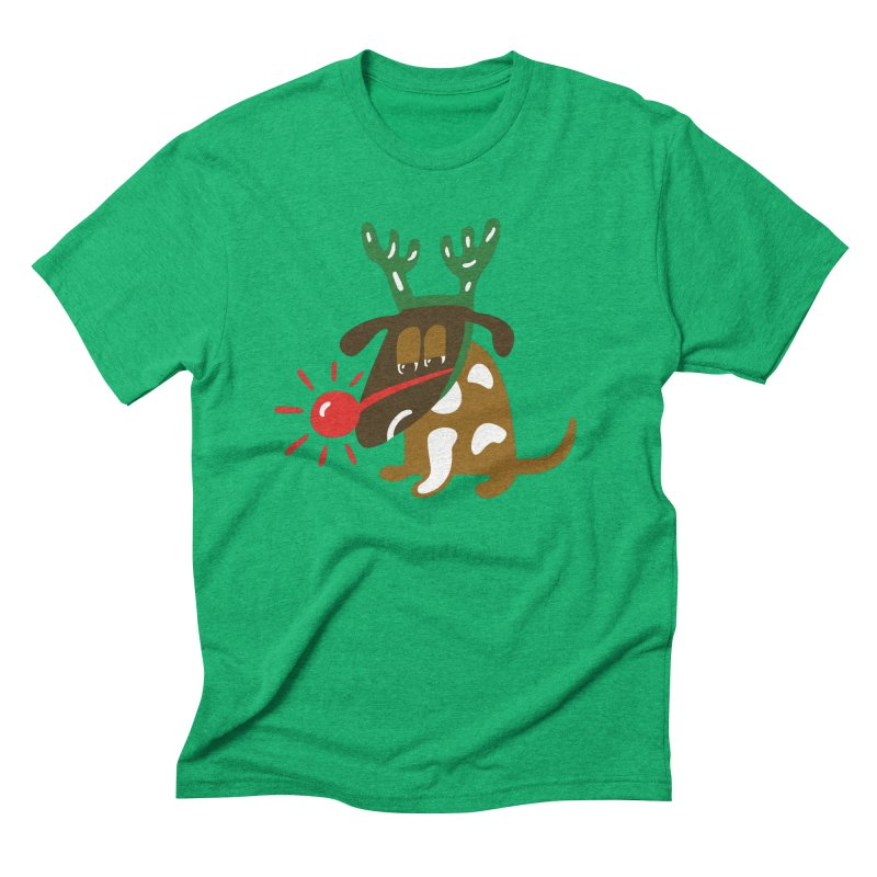 Xmas Dog Men's Triblend T-Shirt by Dicker Dandy
