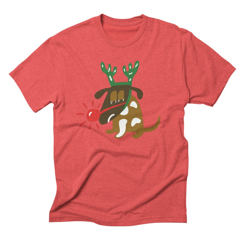 Xmas Dog Men's Triblend T-Shirt by Dicker Dandy
