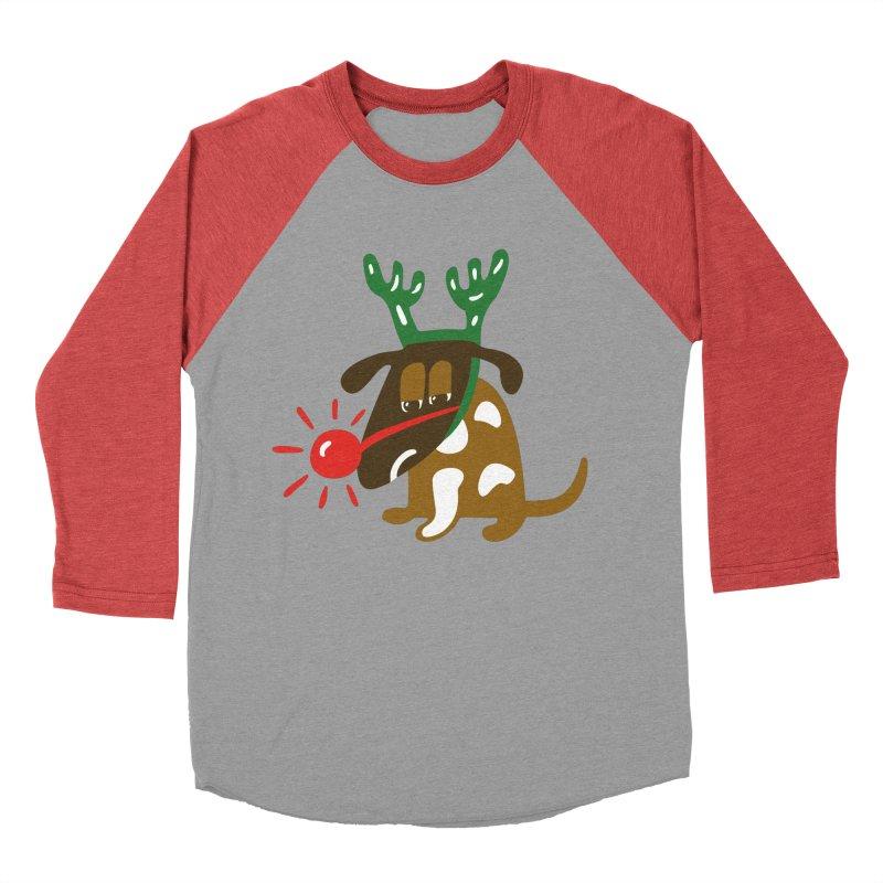 Xmas Dog Women's Baseball Triblend Longsleeve T-Shirt by Dicker Dandy