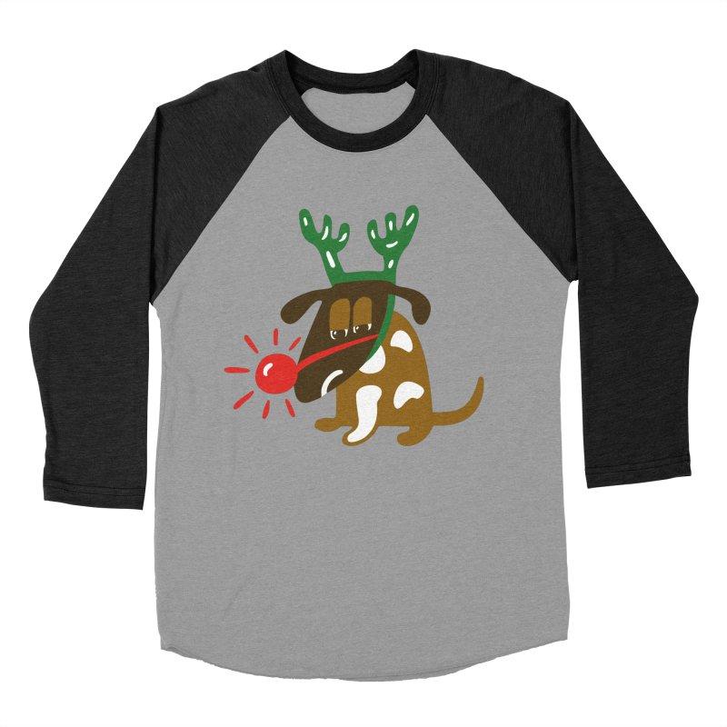 Xmas Dog Men's Baseball Triblend Longsleeve T-Shirt by Dicker Dandy