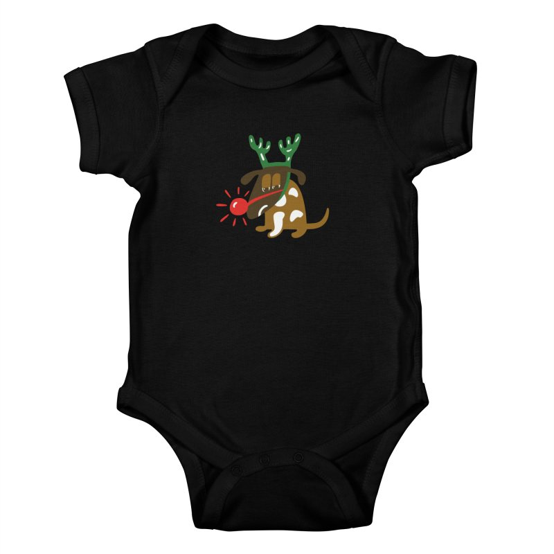 Xmas Dog Kids Baby Bodysuit by Dicker Dandy
