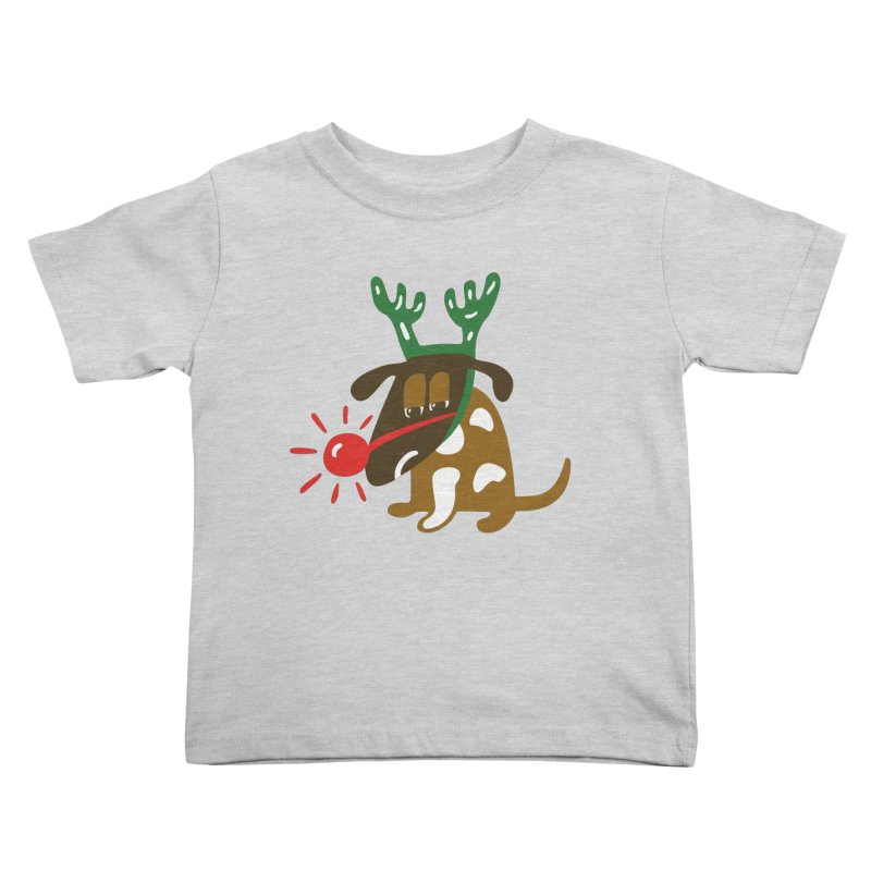 Xmas Dog Kids Toddler T-Shirt by Dicker Dandy