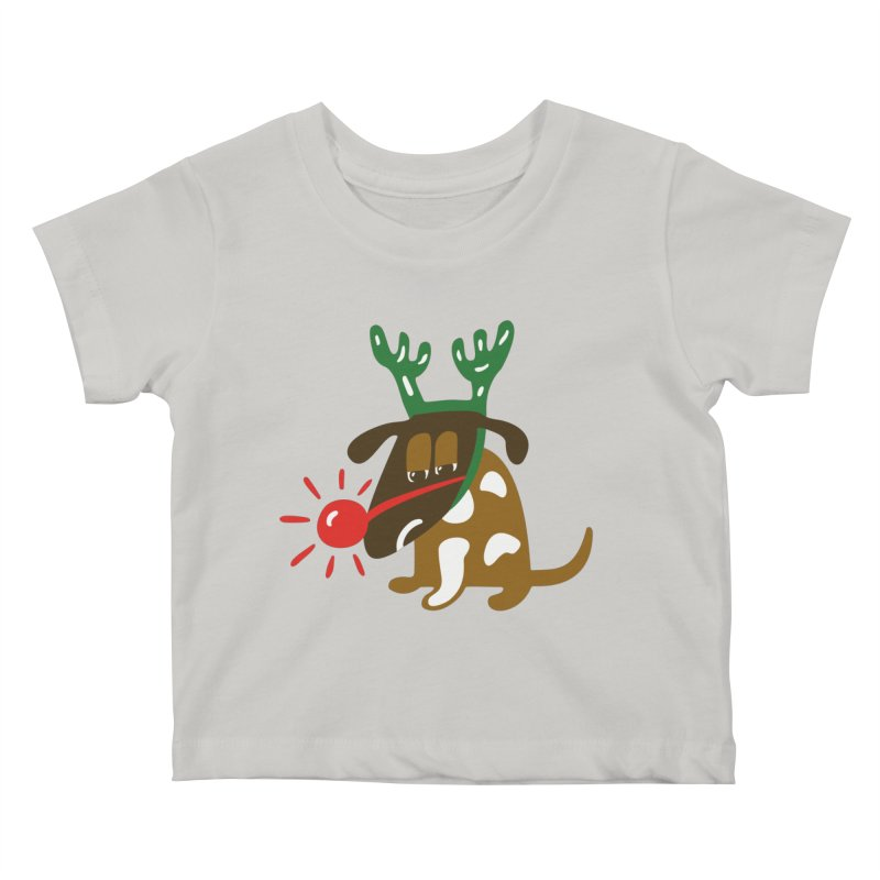 Xmas Dog Kids Baby T-Shirt by Dicker Dandy