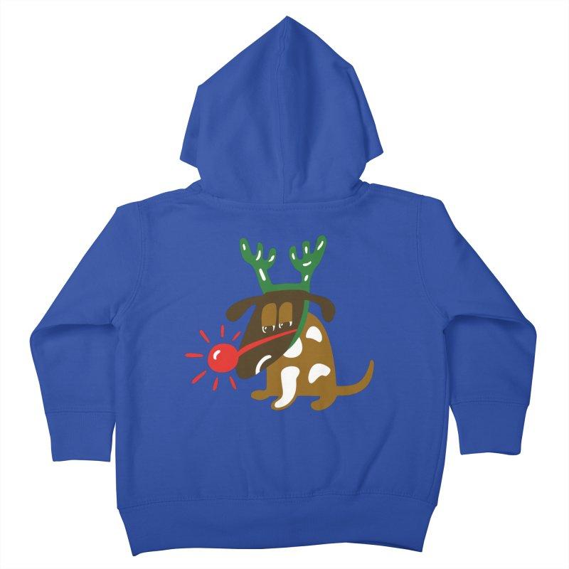 Xmas Dog Kids Toddler Zip-Up Hoody by Dicker Dandy