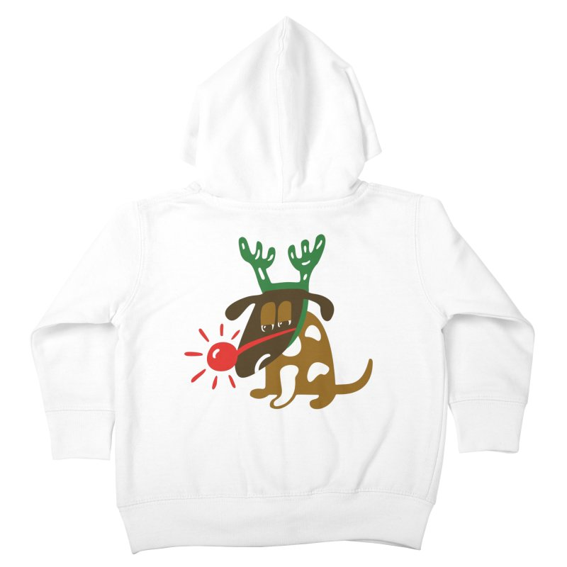 Xmas Dog Kids Toddler Zip-Up Hoody by Dicker Dandy
