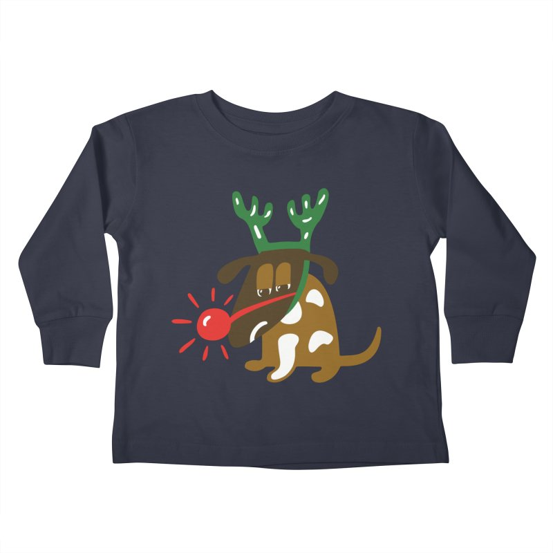 Xmas Dog Kids Toddler Longsleeve T-Shirt by Dicker Dandy