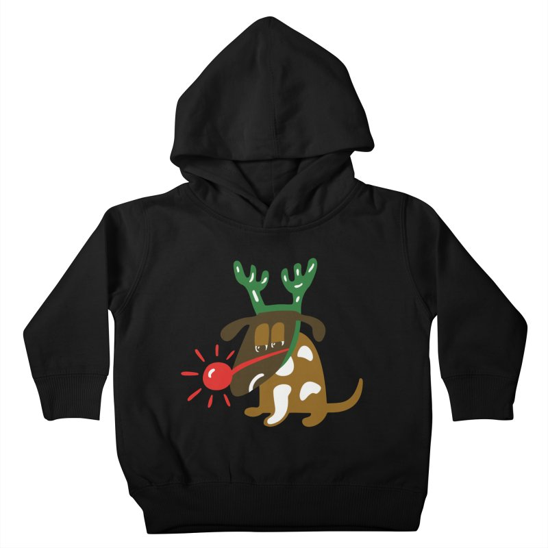 Xmas Dog Kids Toddler Pullover Hoody by Dicker Dandy