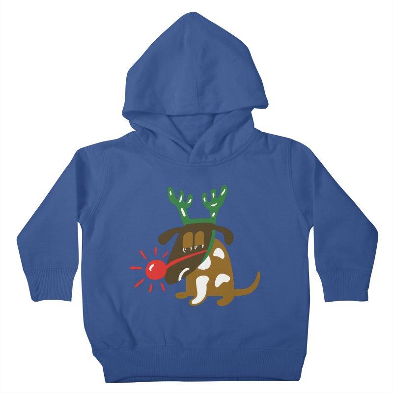 Xmas Dog Kids Toddler Pullover Hoody by Dicker Dandy