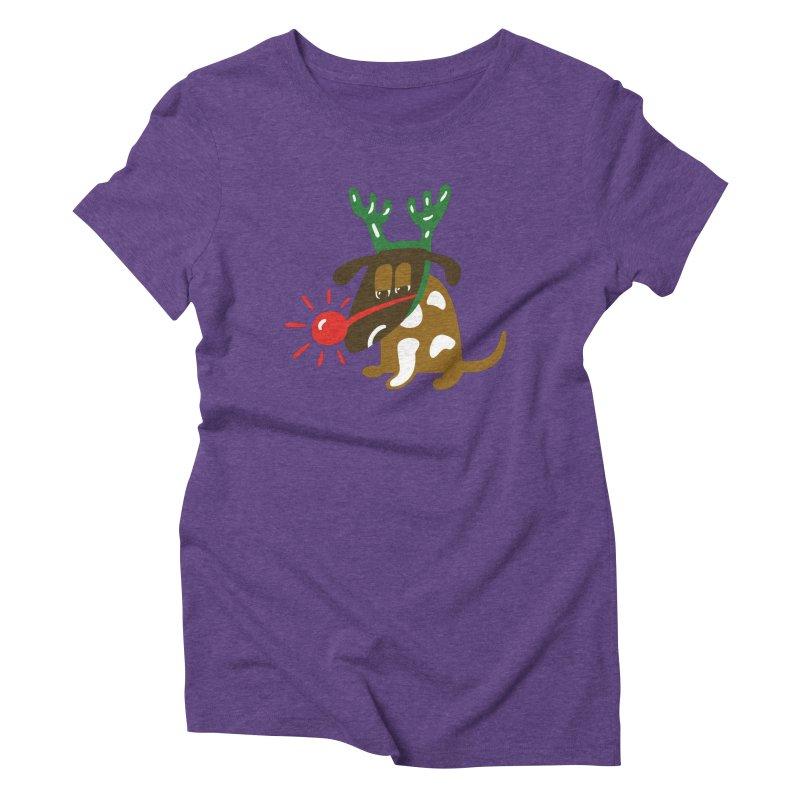 Xmas Dog Women's Triblend T-Shirt by Dicker Dandy