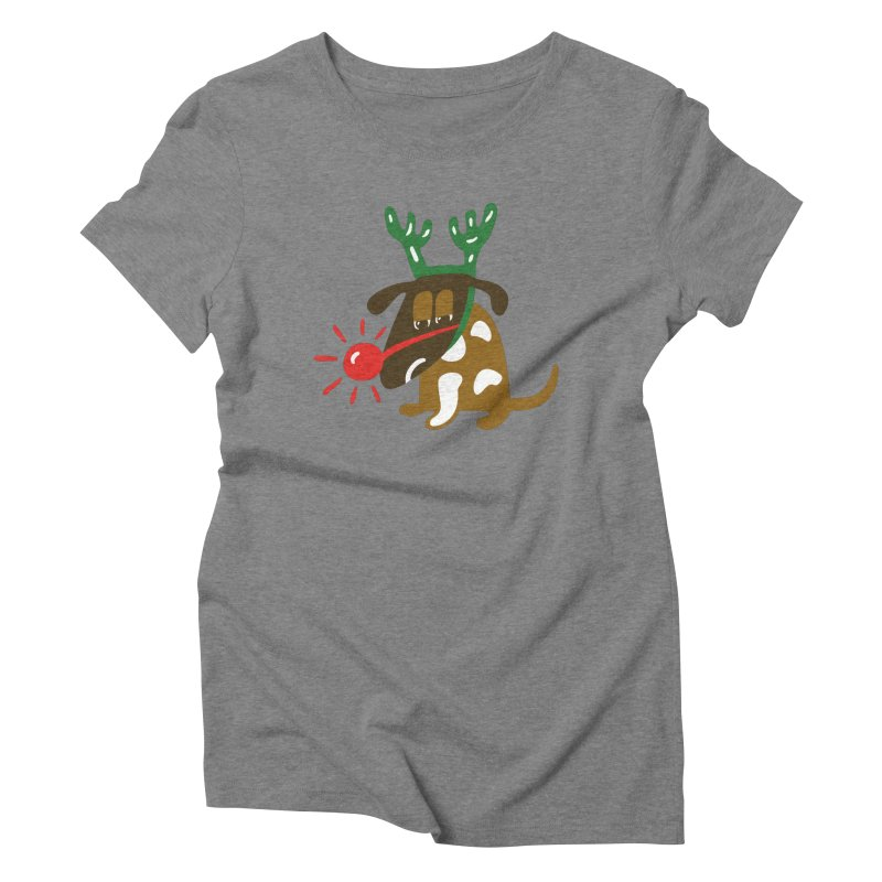 Xmas Dog Women's Triblend T-Shirt by Dicker Dandy