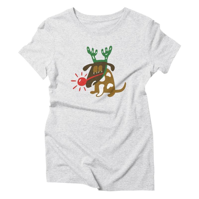 Xmas Dog Women's T-Shirt by Dicker Dandy