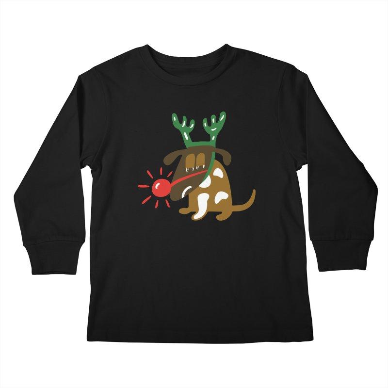 Xmas Dog Kids Longsleeve T-Shirt by Dicker Dandy