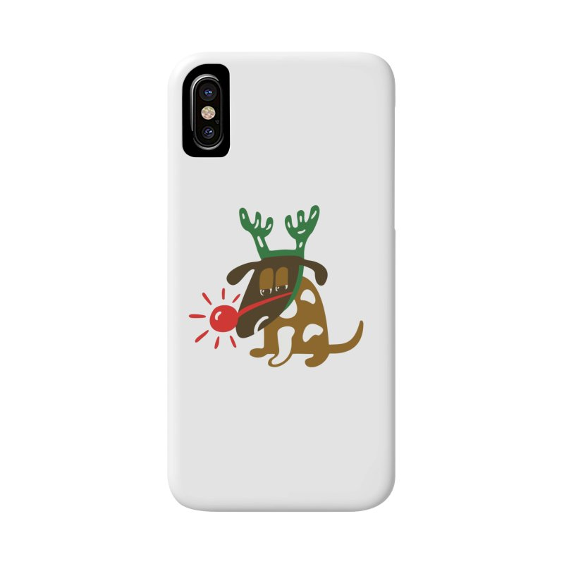 Xmas Dog Accessories Phone Case by Dicker Dandy