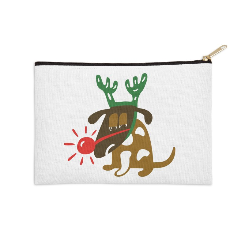 Xmas Dog Accessories Zip Pouch by Dicker Dandy