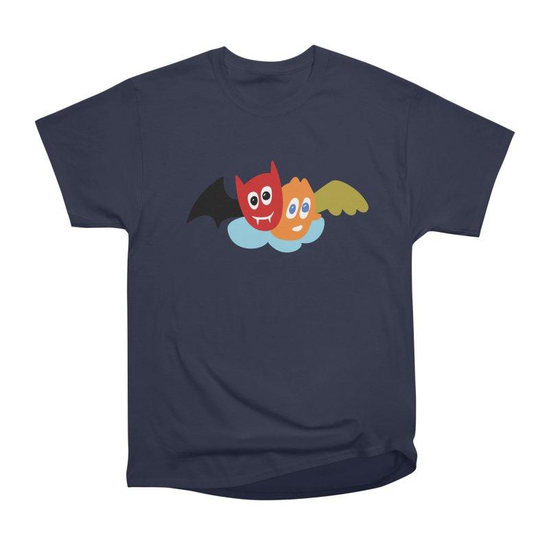Devil & Angel Men's Heavyweight T-Shirt by Dicker Dandy