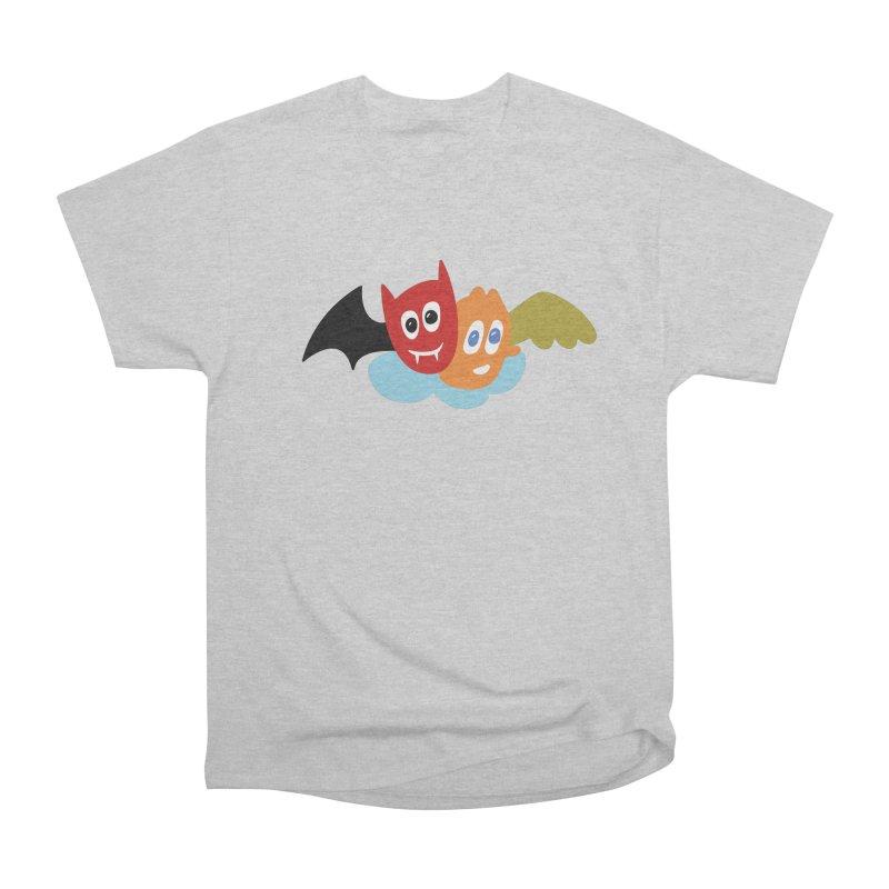 Devil & Angel Women's Heavyweight Unisex T-Shirt by Dicker Dandy