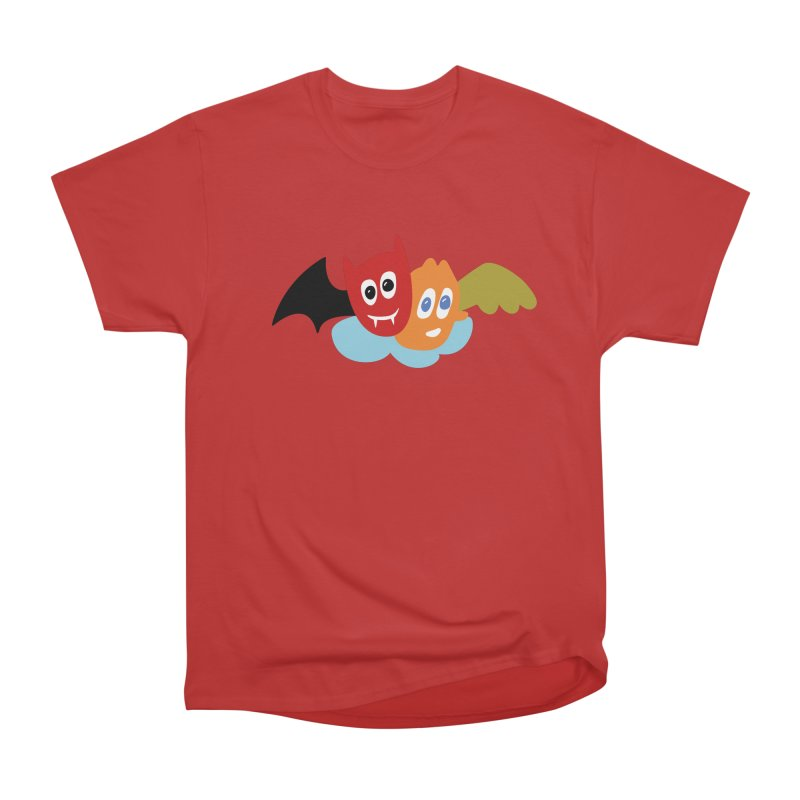 Devil & Angel Men's Heavyweight T-Shirt by Dicker Dandy