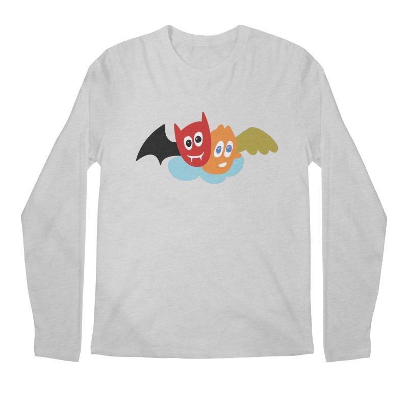 Devil & Angel Men's Regular Longsleeve T-Shirt by Dicker Dandy