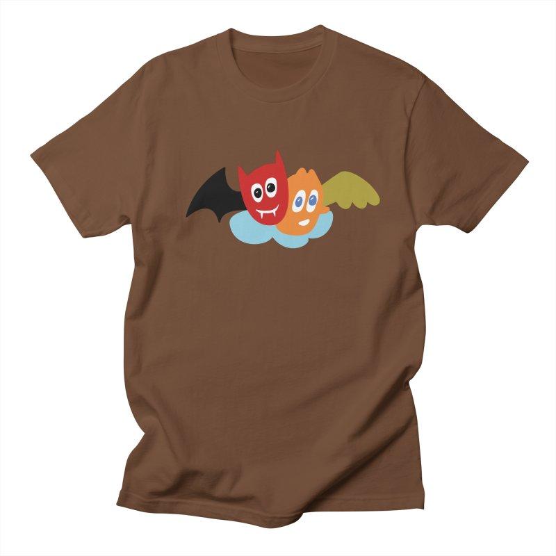 Devil & Angel Men's Regular T-Shirt by Dicker Dandy