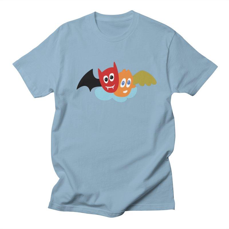 Devil & Angel Women's Regular Unisex T-Shirt by Dicker Dandy