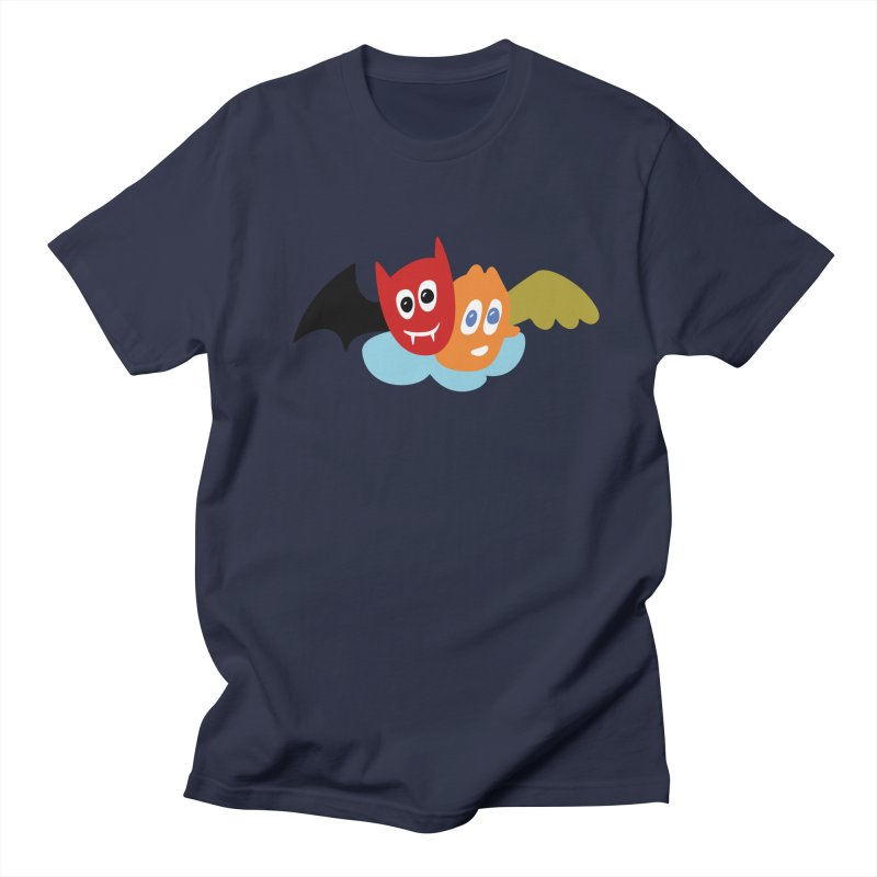 Devil & Angel Men's Regular T-Shirt by Dicker Dandy