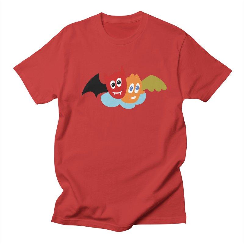 Devil & Angel Men's T-Shirt by Dicker Dandy