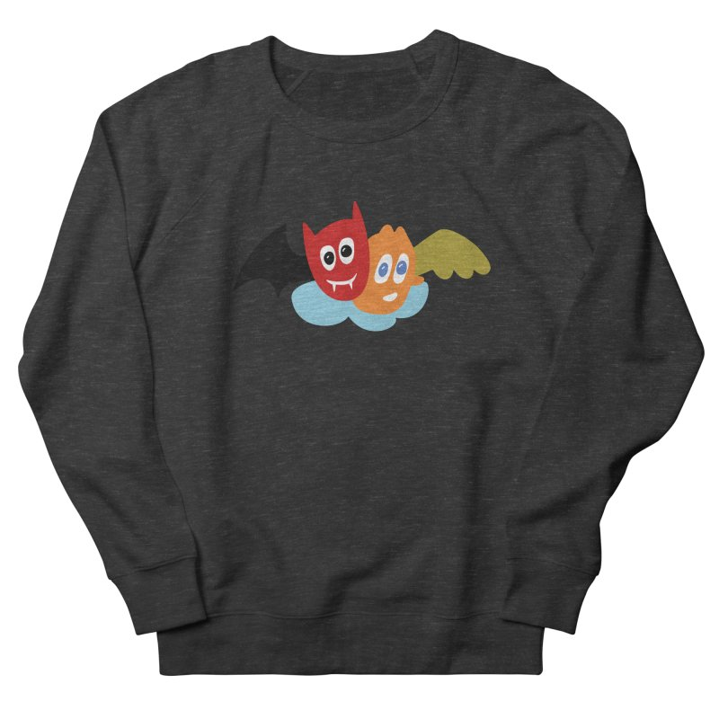 Devil & Angel Women's Sweatshirt by Dicker Dandy
