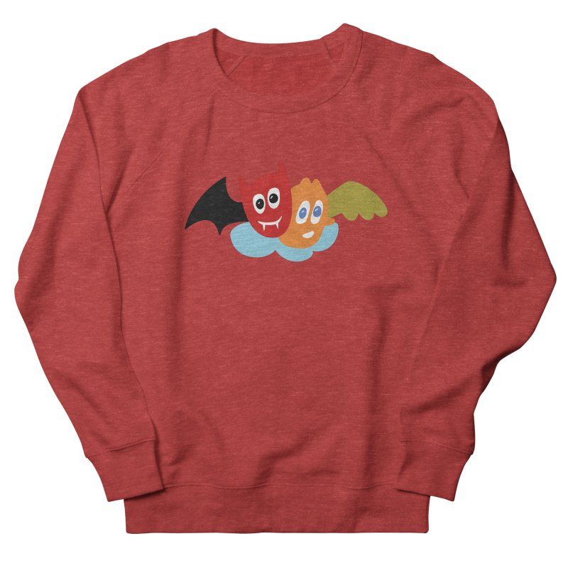 Devil & Angel Women's French Terry Sweatshirt by Dicker Dandy