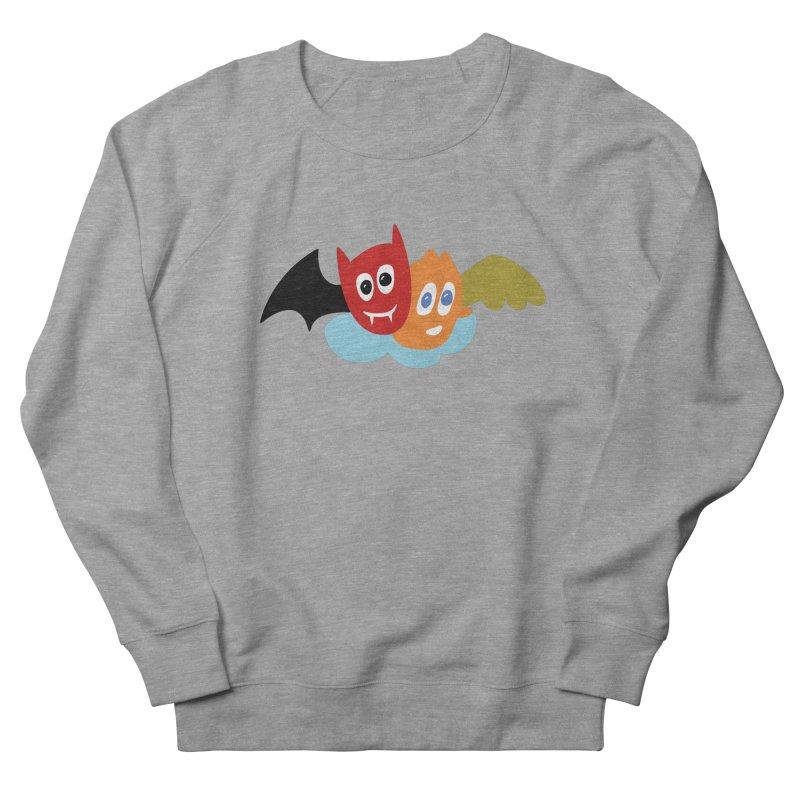 Devil & Angel Men's French Terry Sweatshirt by Dicker Dandy