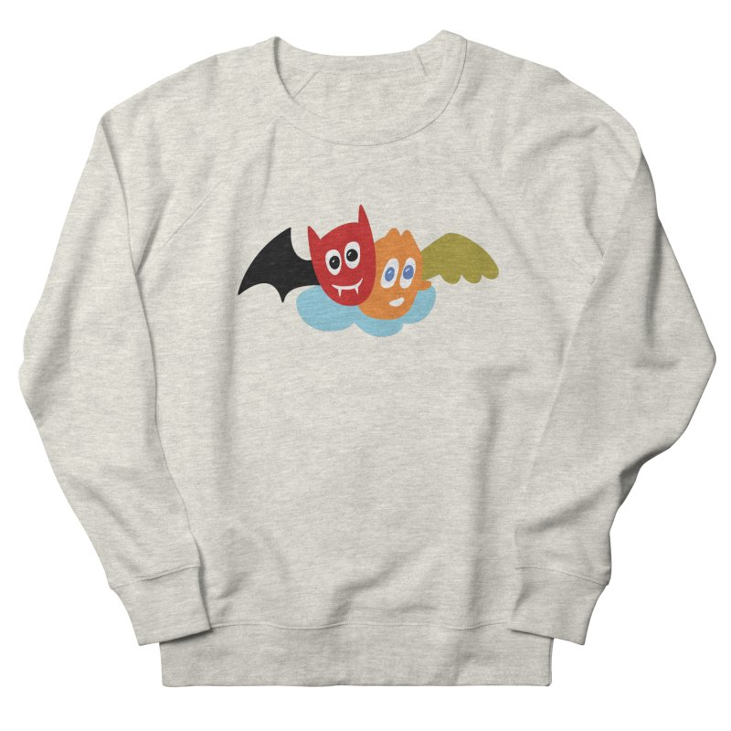 Devil & Angel Men's French Terry Sweatshirt by Dicker Dandy