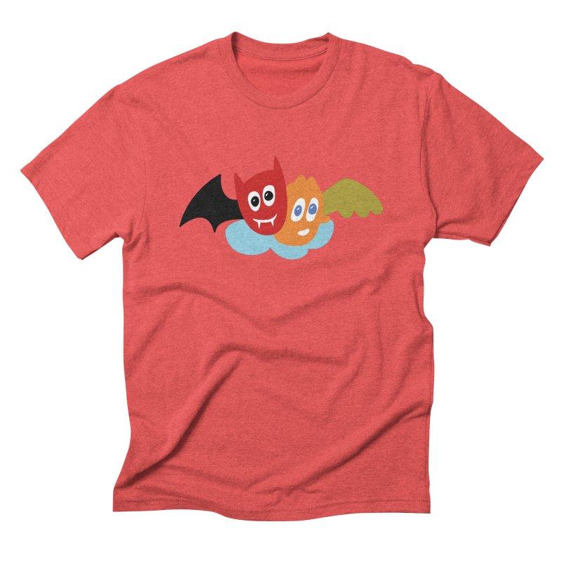 Devil & Angel Men's Triblend T-Shirt by Dicker Dandy