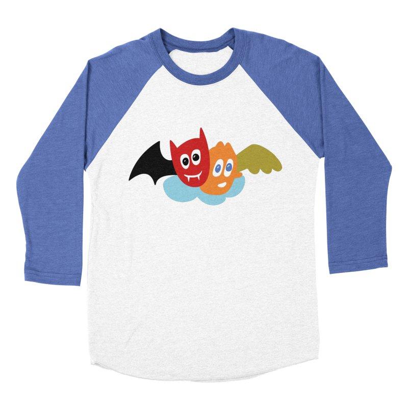 Devil & Angel Women's Baseball Triblend Longsleeve T-Shirt by Dicker Dandy