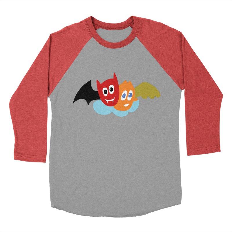 Devil & Angel Men's Baseball Triblend T-Shirt by Dicker Dandy