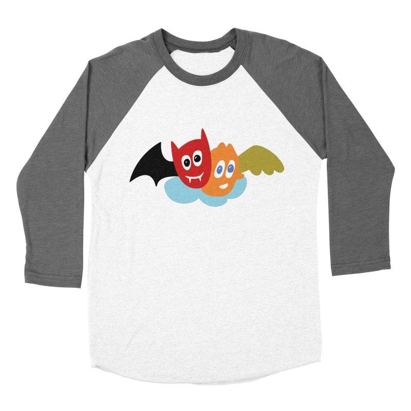 Devil & Angel Men's Baseball Triblend Longsleeve T-Shirt by Dicker Dandy