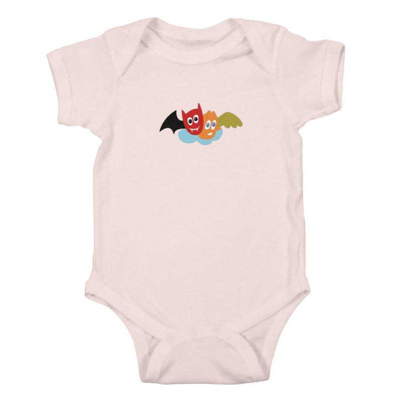Devil & Angel Kids Baby Bodysuit by Dicker Dandy