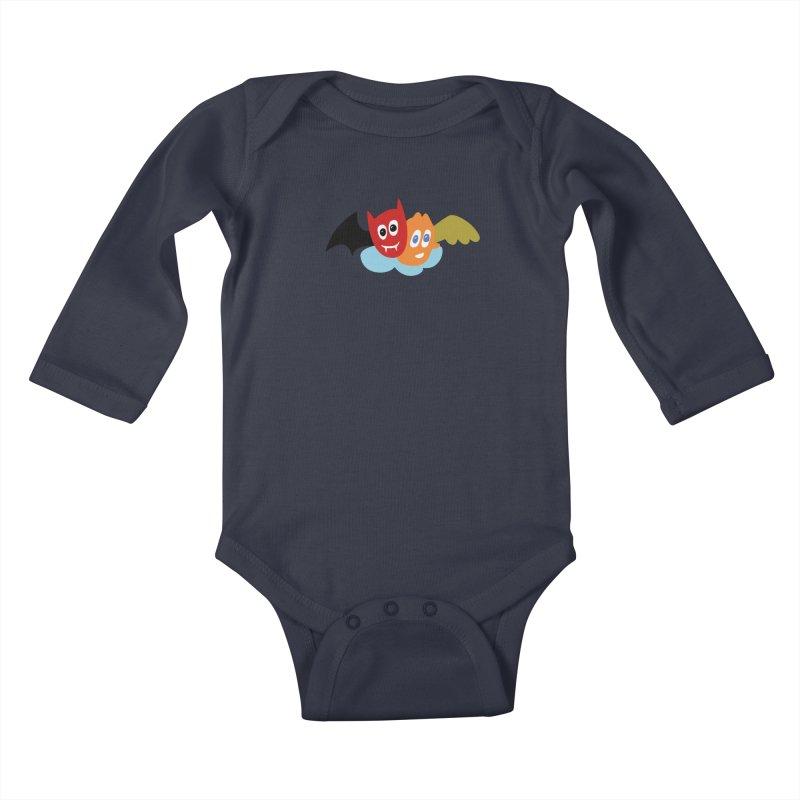 Devil & Angel Kids Baby Longsleeve Bodysuit by Dicker Dandy