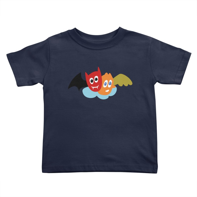 Devil & Angel Kids Toddler T-Shirt by Dicker Dandy